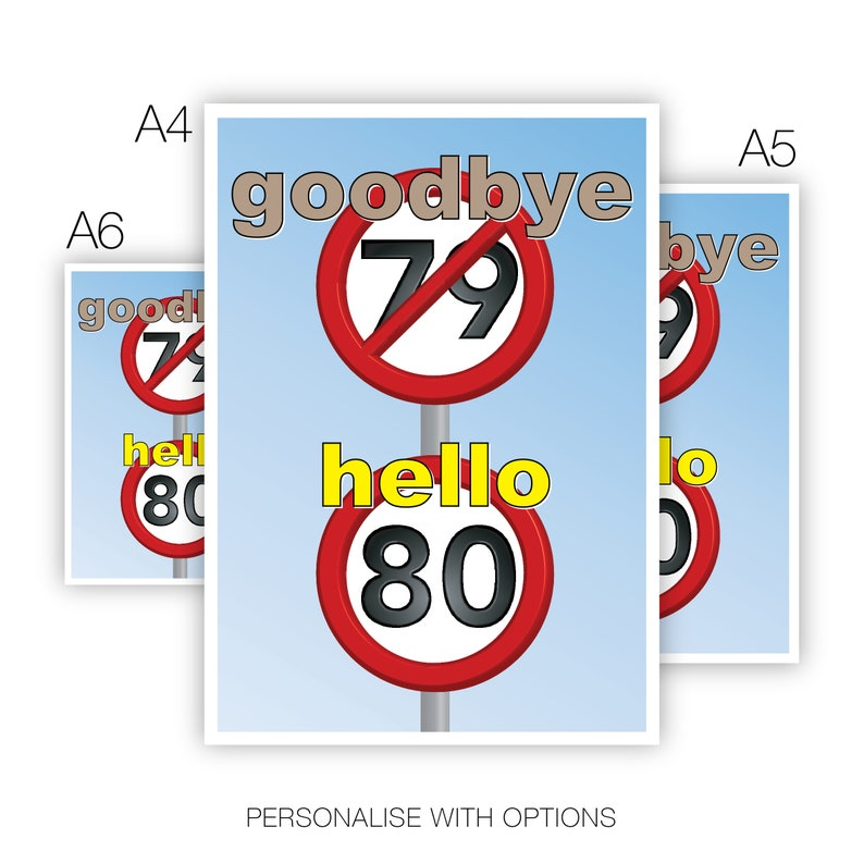 Funny 80th Happy Birthday Card For Him Her 80