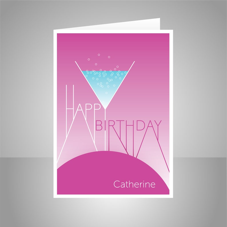 Personalised Happy Birthday Card For Her Edit NAME Bday