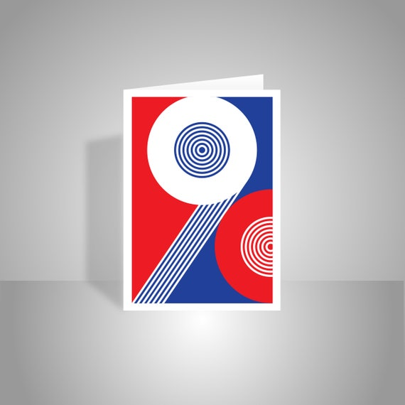 90th Happy Birthday Card For Her Him Red White Blue