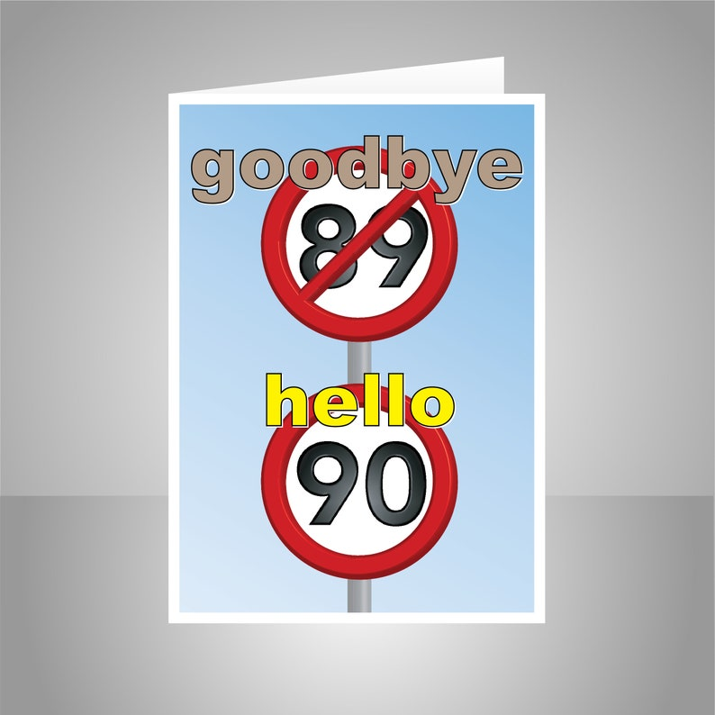 Funny 90th Happy Birthday Card For Him Her 90