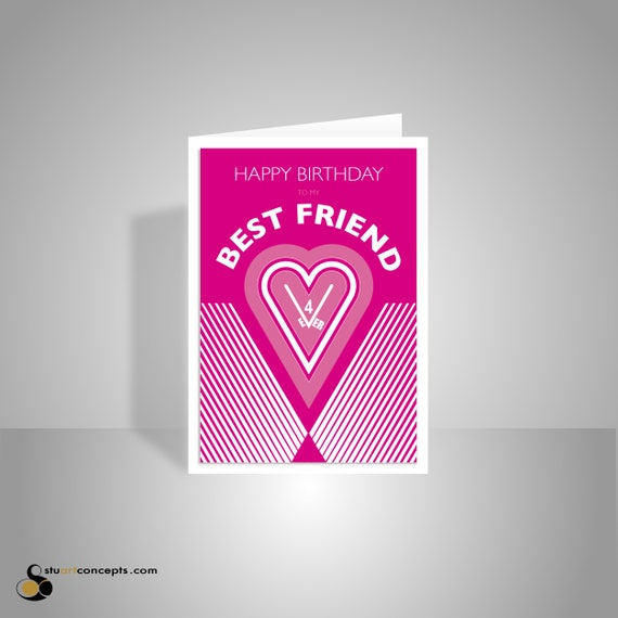 Best Friend Happy Birthday Card For Girl Woman Female Friend Etsy