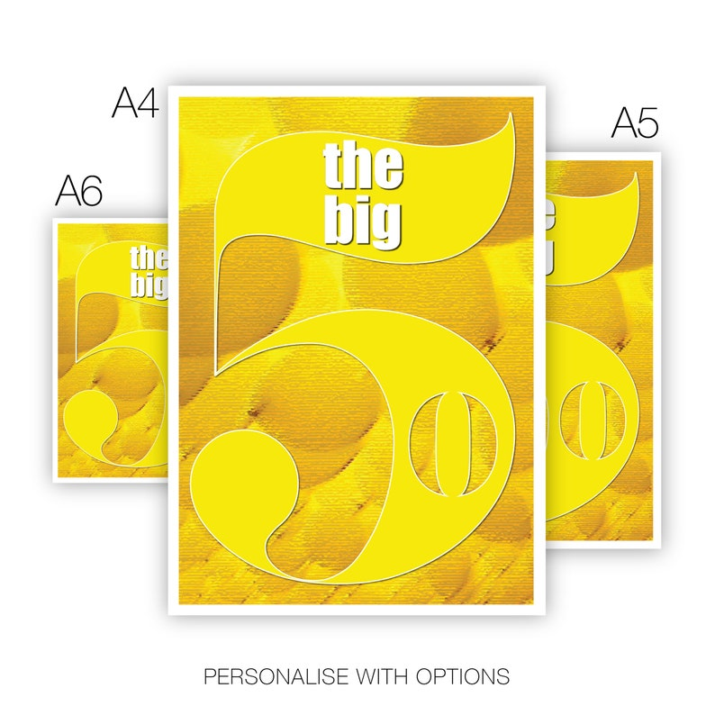 Funny 50th Happy Birthday Card For Him Her The Big 5 0