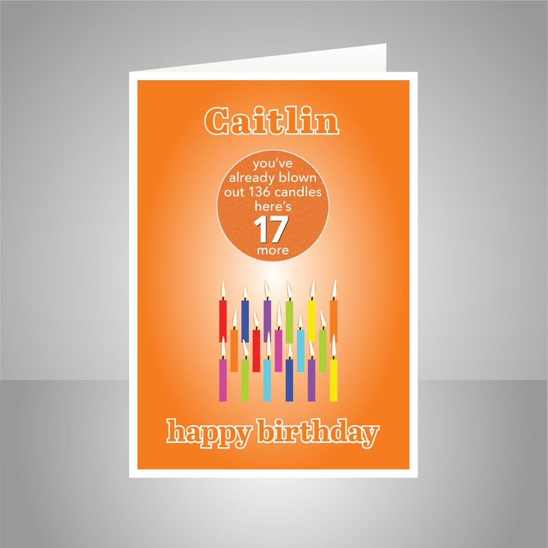 Funny 17th Birthday Card For Boy Girl Edit Name 17 Bday