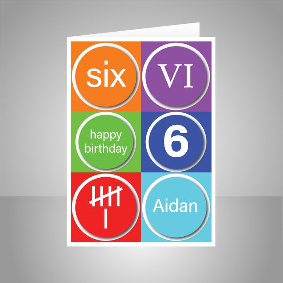 Personalised 6th Happy Birthday Card For Boy Edit Name