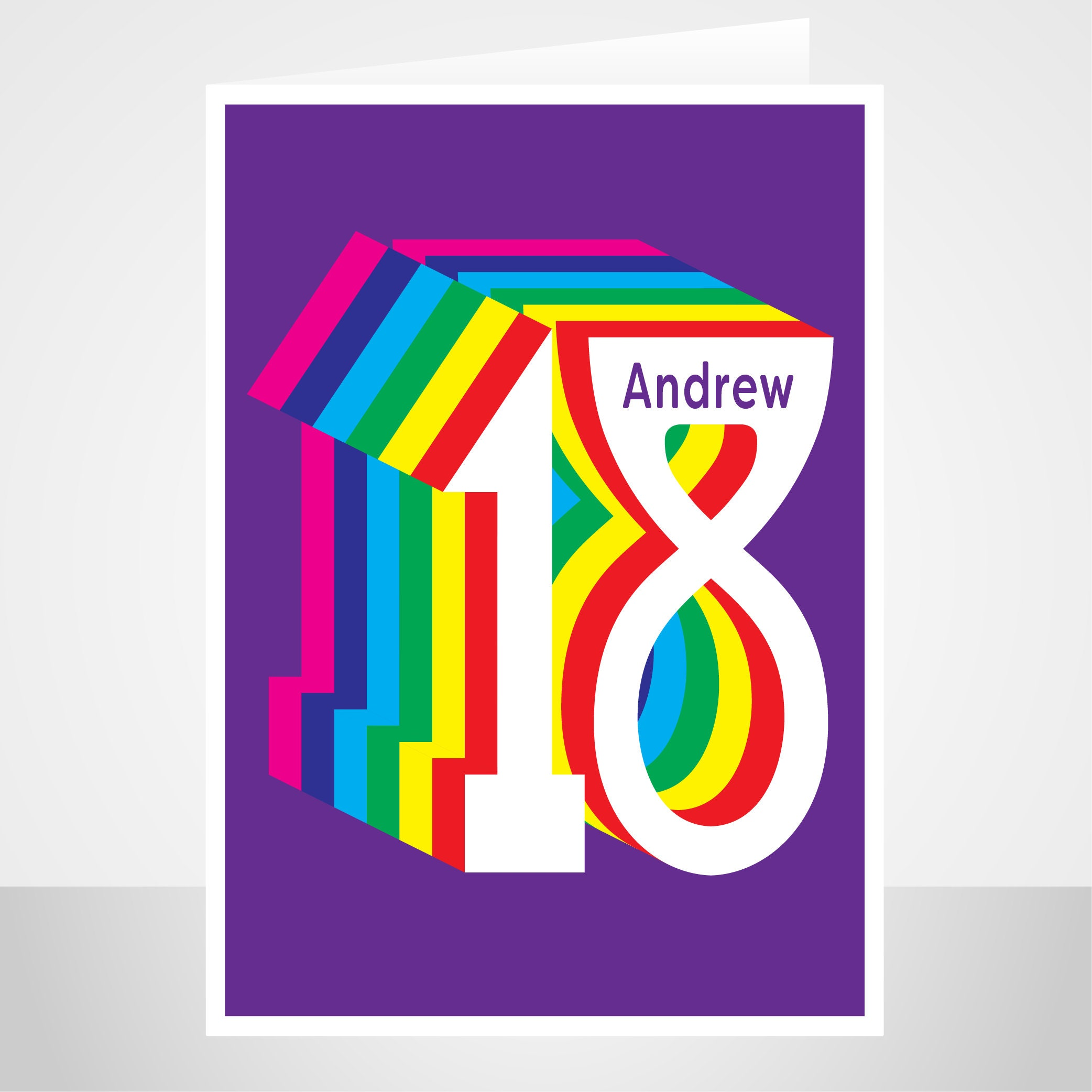 personalised 18th birthday card for boy for girl edit name