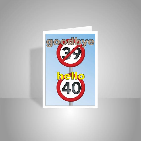 Funny 40th Happy Birthday Card For Him Her 40