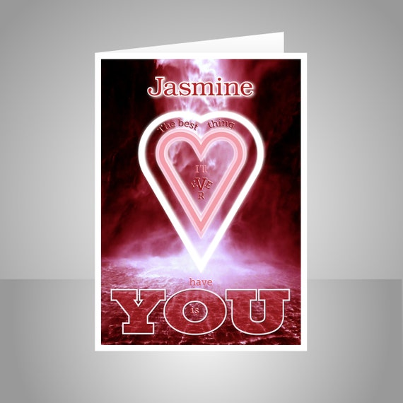 Personalised Name Romantic Valentine Card For Husband Or Etsy Enchanting Best Valentine Message For Him