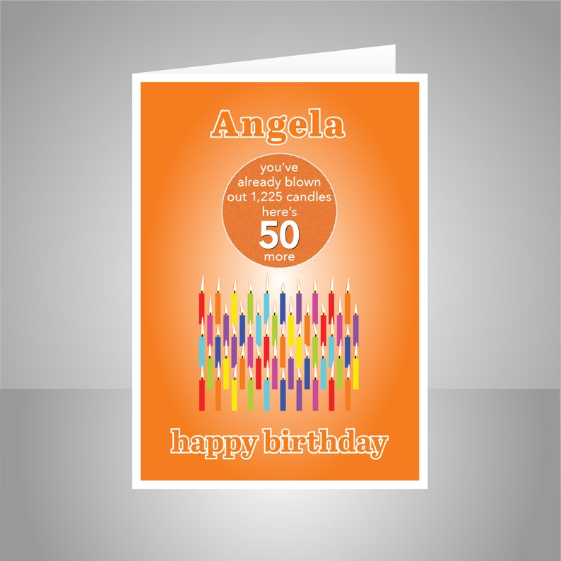 Funny 50th Birthday Card For Him Her Edit Name 50 Bday