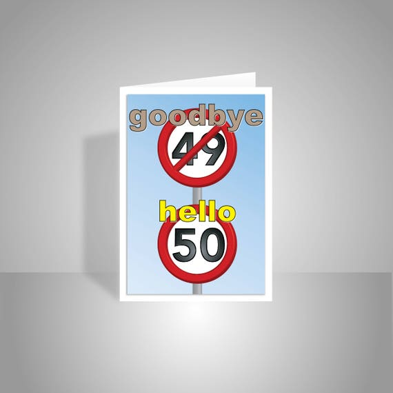 Funny 50th Happy Birthday Card For Him For Her 50 Birthday