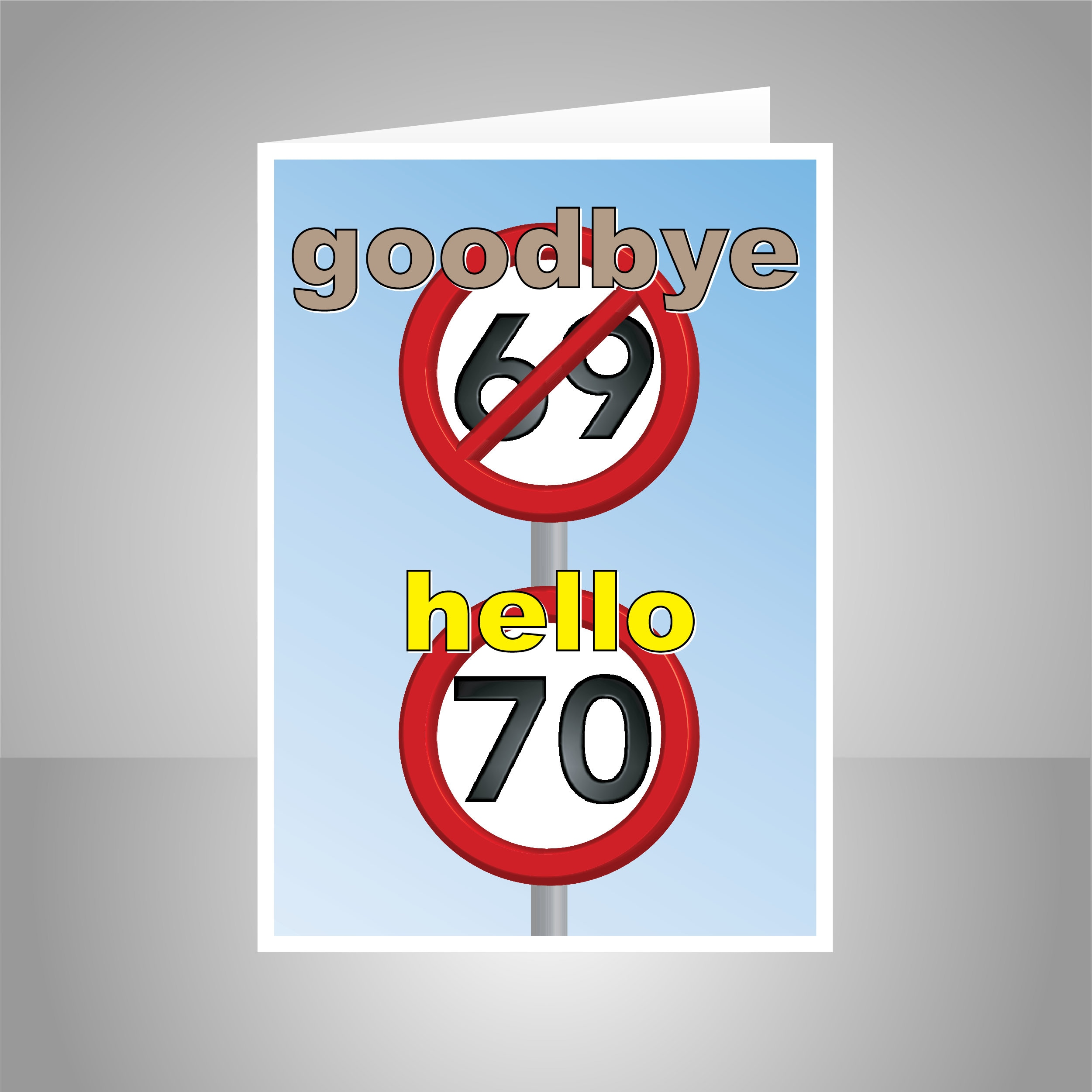 Funny 70th Happy Birthday Card For Him Her 70