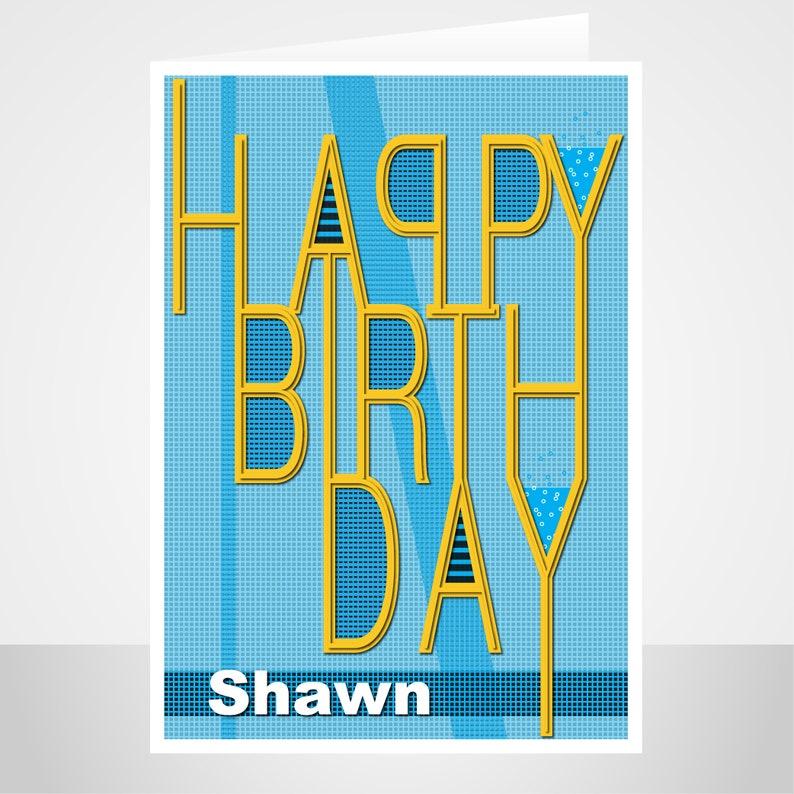 edit name happy birthday card for son boy male birthday  etsy