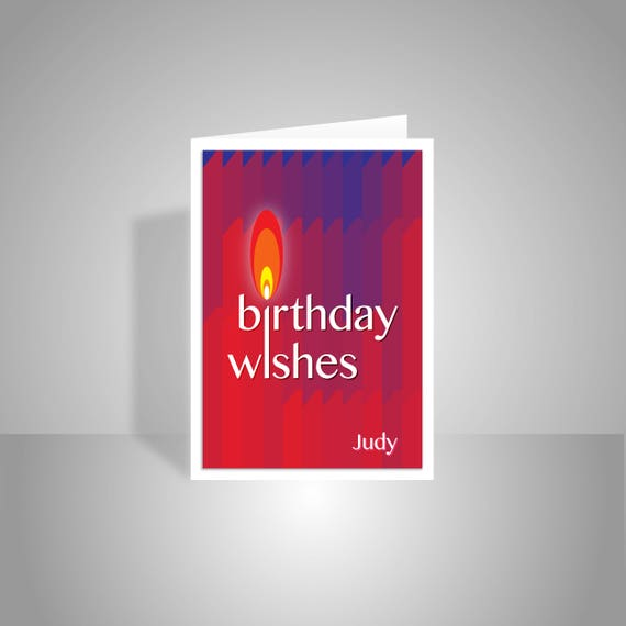 Personalised Name Happy Birthday Wishes Card For Her Him Etsy