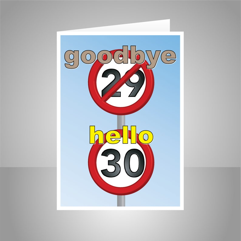 Funny 30th Happy Birthday Card For Him Her 30