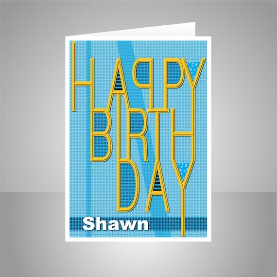Edit Name Happy Birthday Card For Son Boy Male