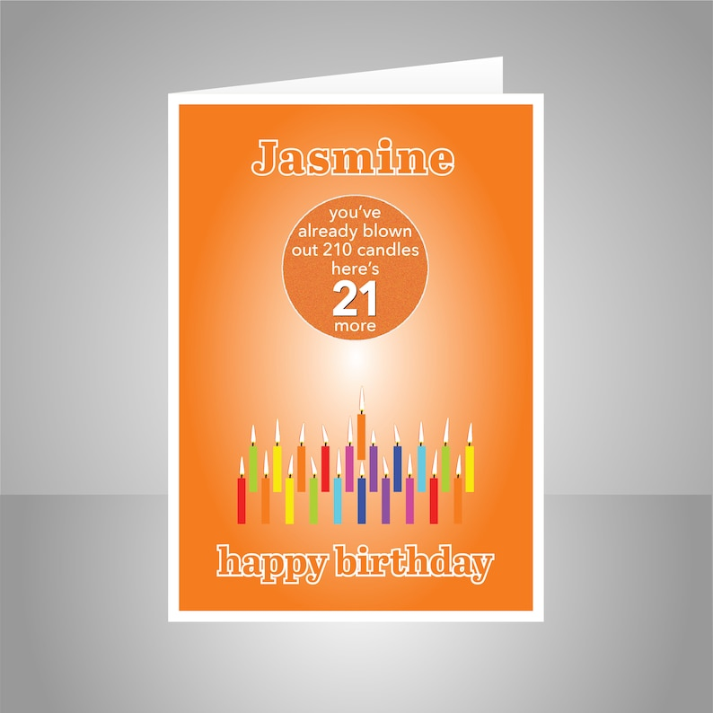 Funny 21st Birthday Card For Him Her Edit Name 21 Bday
