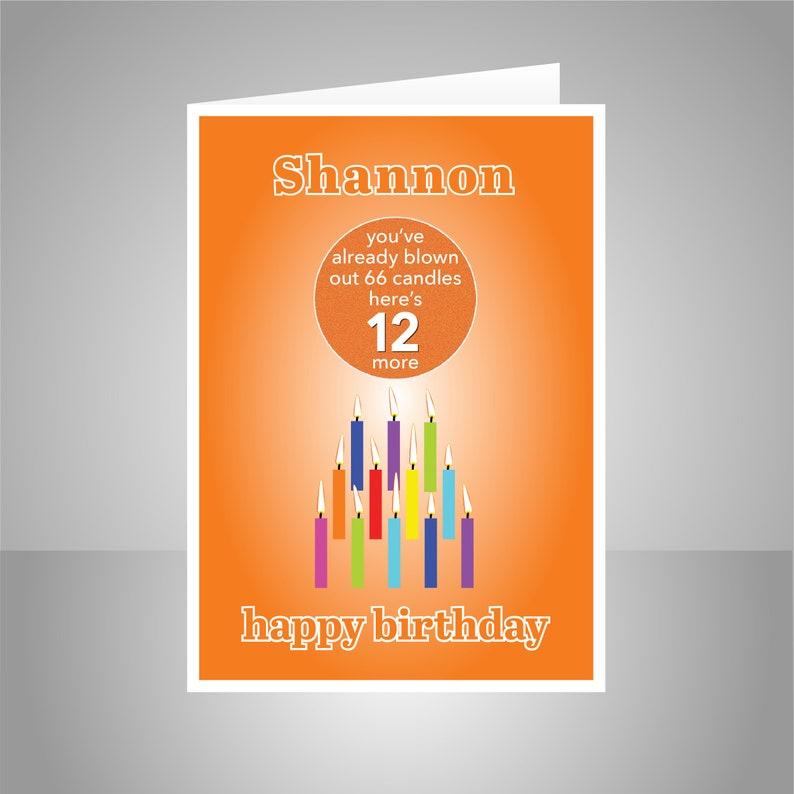 Funny 12th Birthday Card For Boy Girl Edit Name 12 Bday
