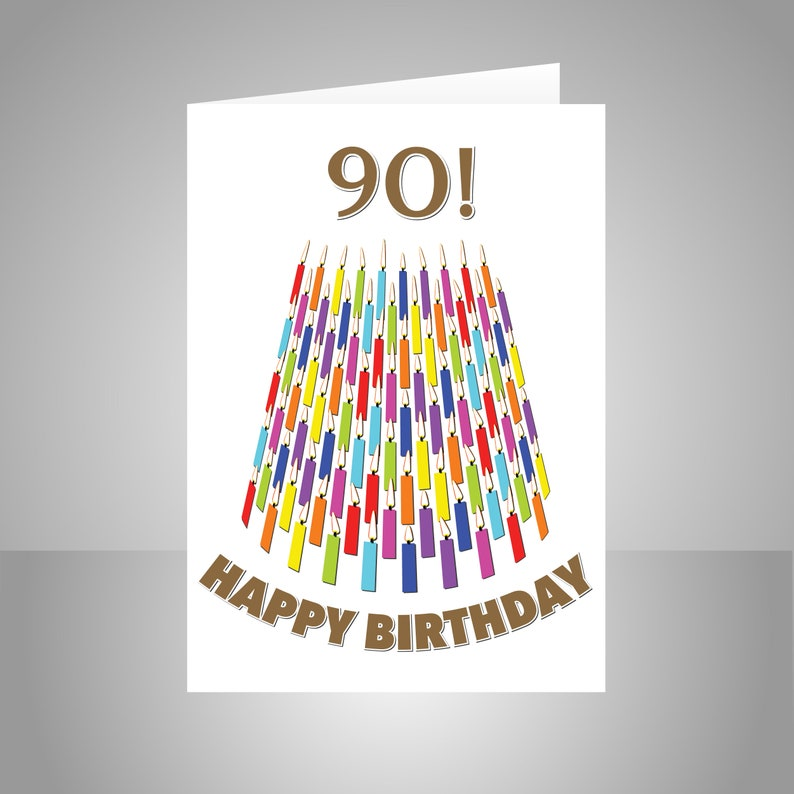 90th Birthday Card For Him Her Unique 90 Bday Wishes