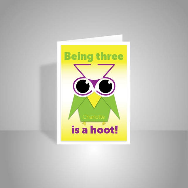 Personalised Funny Owl 3rd Happy Birthday Card For Boy For Etsy