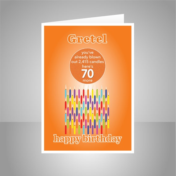 Funny 70th Birthday Card For Him Her Edit Name 70 Bday
