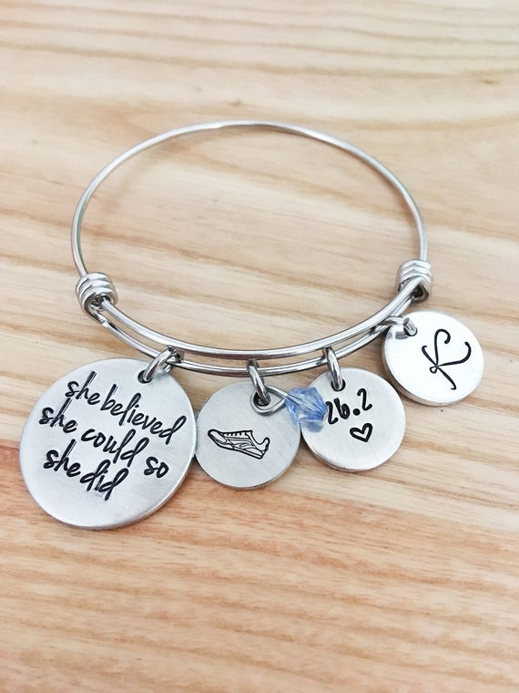 She believed She Could So She Did Marathon Bracelet