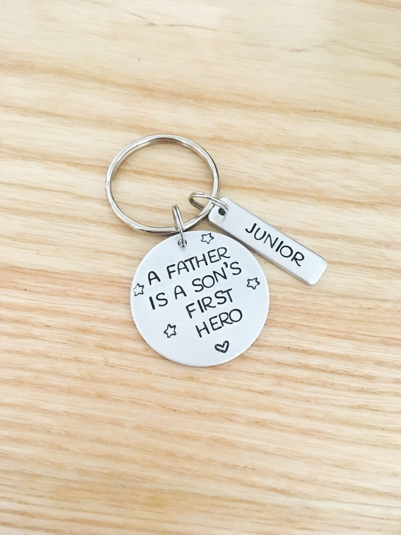 Dad Birthday Gift From Son Personalized Keychain New