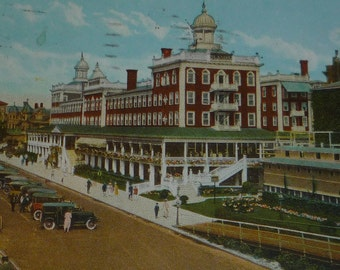 Seaside Hotel, Atlantic City, NJ Vintage Street View Postcard