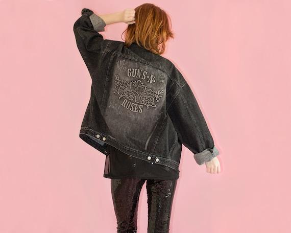 Guns N Roses Jacket Signed 90s Vintage Unisex Mens Womens L Etsy