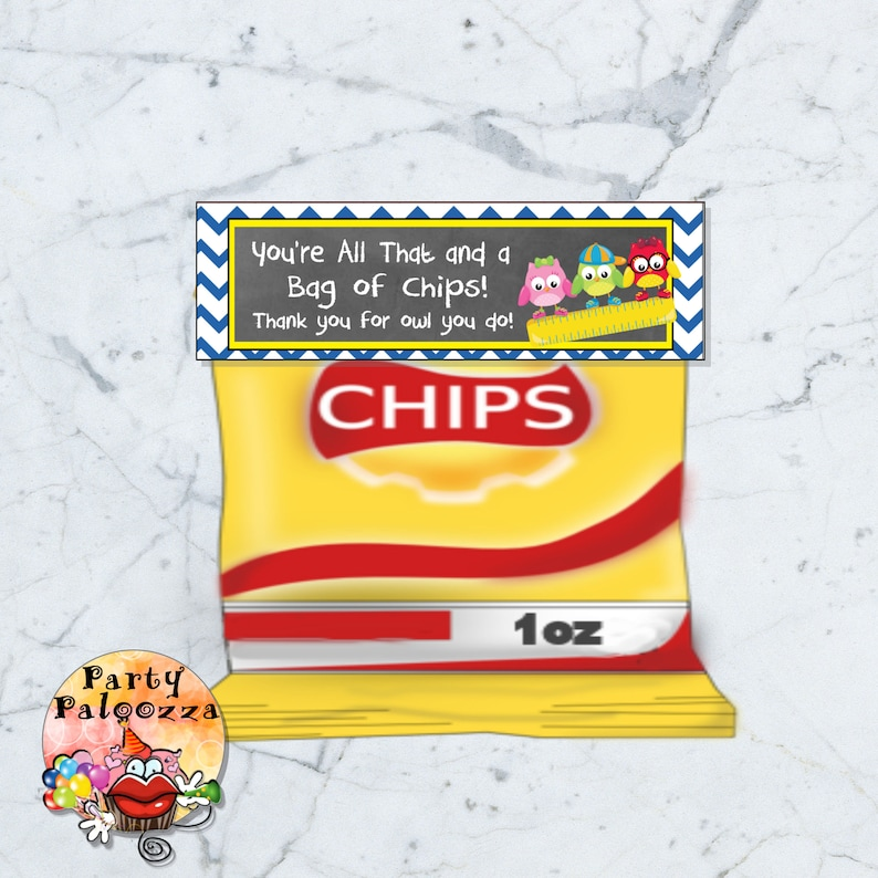 image regarding You're All That and a Bag of Chips Printable titled Printable instructor appreciation Chip bag topper