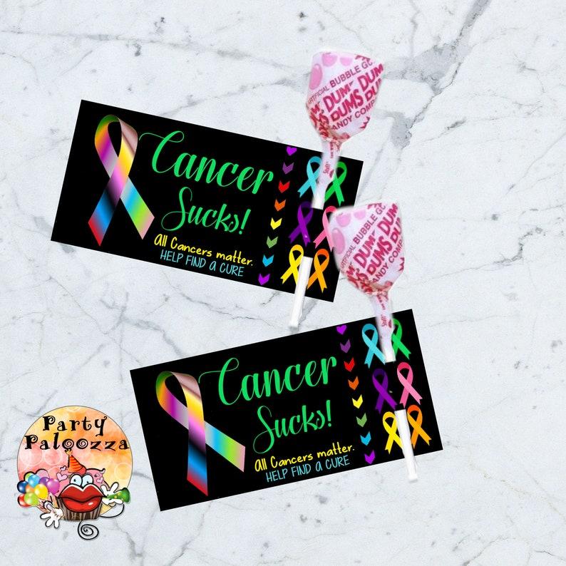 Suce Étiquette Imprimable Sucette Les Tous Cancers lJ1FcK