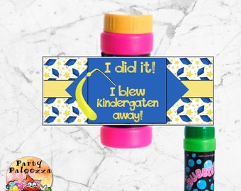 Printable Graduation Bubble Bottle Wrapper