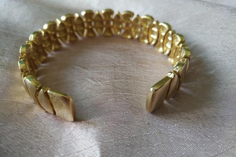 Vintage Gold Tone Bendable Cuff Bracelet