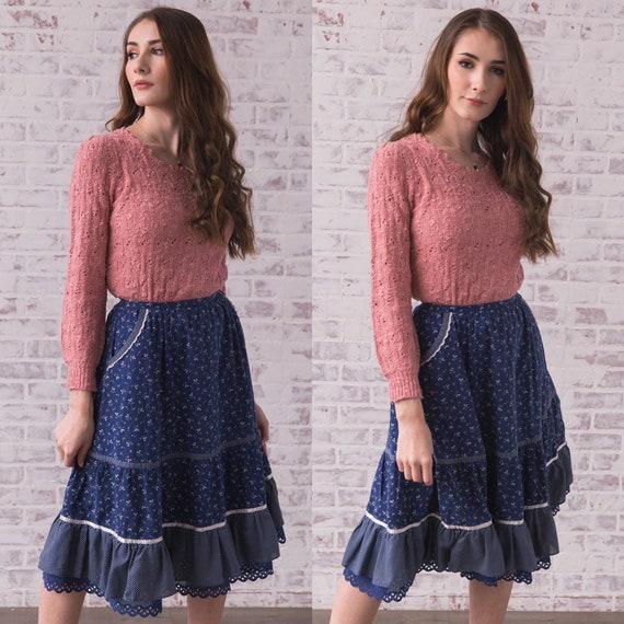 "Vintage Jessica's Gunnies Prairie Skirt XS 25"" Wai"
