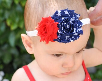 Fourth of July Baby Girl, 4th of July Baby Girl Headband, Patriotic Headband, Fourth of July Headband, Fourth of July Outfit, Baby Headband