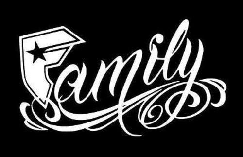 Famous Stars & Straps Family Sticker Decal Gangster Tattoo SoCal ...