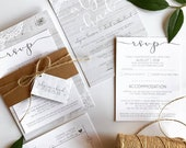 Grey Barnboard & Lace Wedding Invitation | Rustic Romantic Invite | Custom Country Wedding Invitation Suite wedding invitation