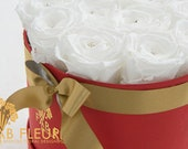 White Rose Bouquet in Red...
