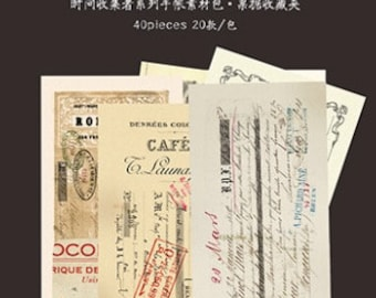 Deco Tickets (40 Pieces) for Journals, Scrapbooking, and Crafts