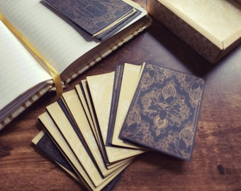 Decorative Journal Cards, Vintage-styled Victorian Patterns