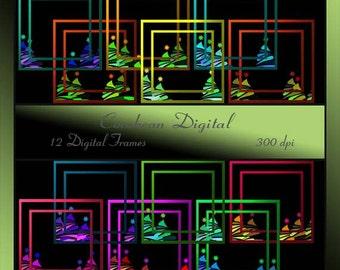 Christmas Tree 1 digital frames-instant download