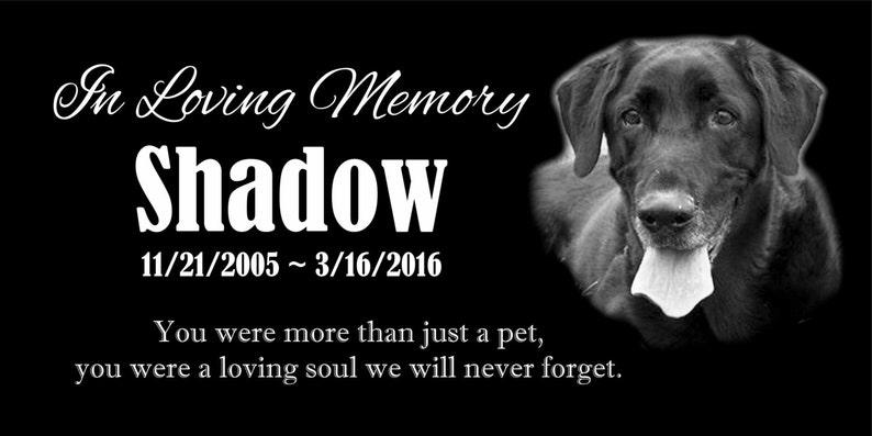 Personalized Pet Dog Human Stone Memorial Engraved Marker Granite 6