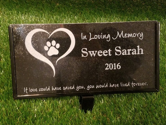 Pet Memorial Stone Granite Grave Marker Dog Cat Horse 10 X 6 Bird Rabbit Human Grave Stone Australian Shepherd
