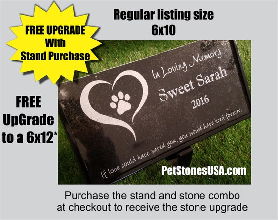 Pet Memorial Stone Granite Grave Marker Dog Cat Horse 10 X 6 Bird Rabbit Human Grave Stone Akita Coonhound