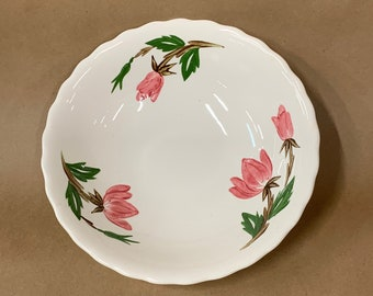 Salad Bowl Botanicals Gardeners coleus Hand-Painted Porcelain Flower and Plants on large Slant Bowl Serving bowl orchids hydrangea