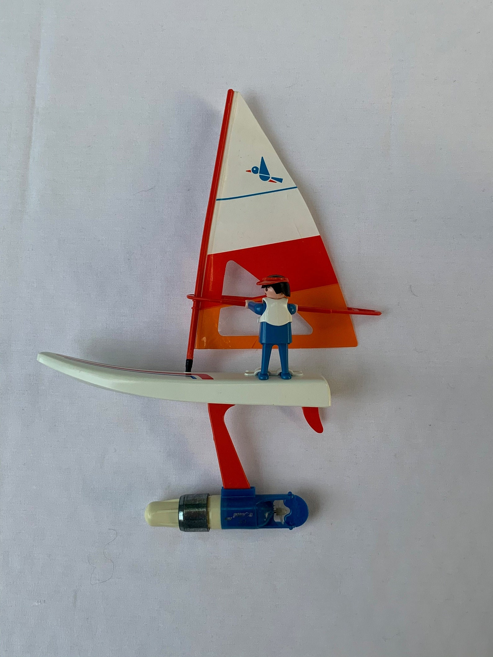 Vintage playmobil set 3584 motorized windsurfer/playmobil battery operated sailboat with windsurfer