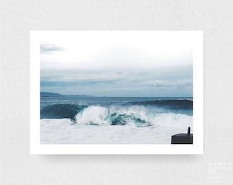 ocean beach photograph - coastal surf decor - minimalist wave - wall art - landscape - square prints | LARGE FORMAT PRINT