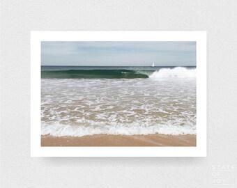 ocean beach photograph - coastal surf decor - beach - waves - wall art - landscape - square prints | LARGE FORMAT PRINT