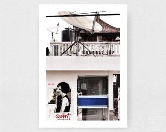 bali - travel - urban photograph - buildings - abandoned - wall art - portrait - square prints | LARGE FORMAT PRINT