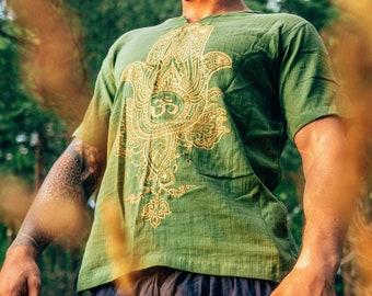 Ohm T-shirt Hippie Yoga Bohemian Style Unisex