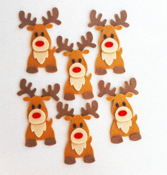 Felt Reindeer Die Cuts Felt Christmas Shapes Felt Rudolph ...