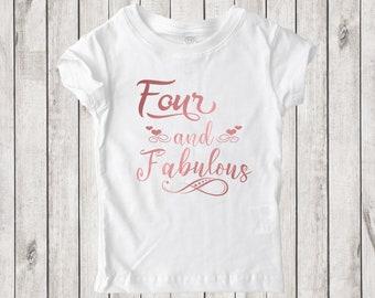 d39f3bdae97 And Fabulous Rose Gold - Custom Birthday Girl s T-Shirt